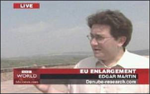 2004: Edgar Martin live on BBC World television news discussing new opportunities for the Danube